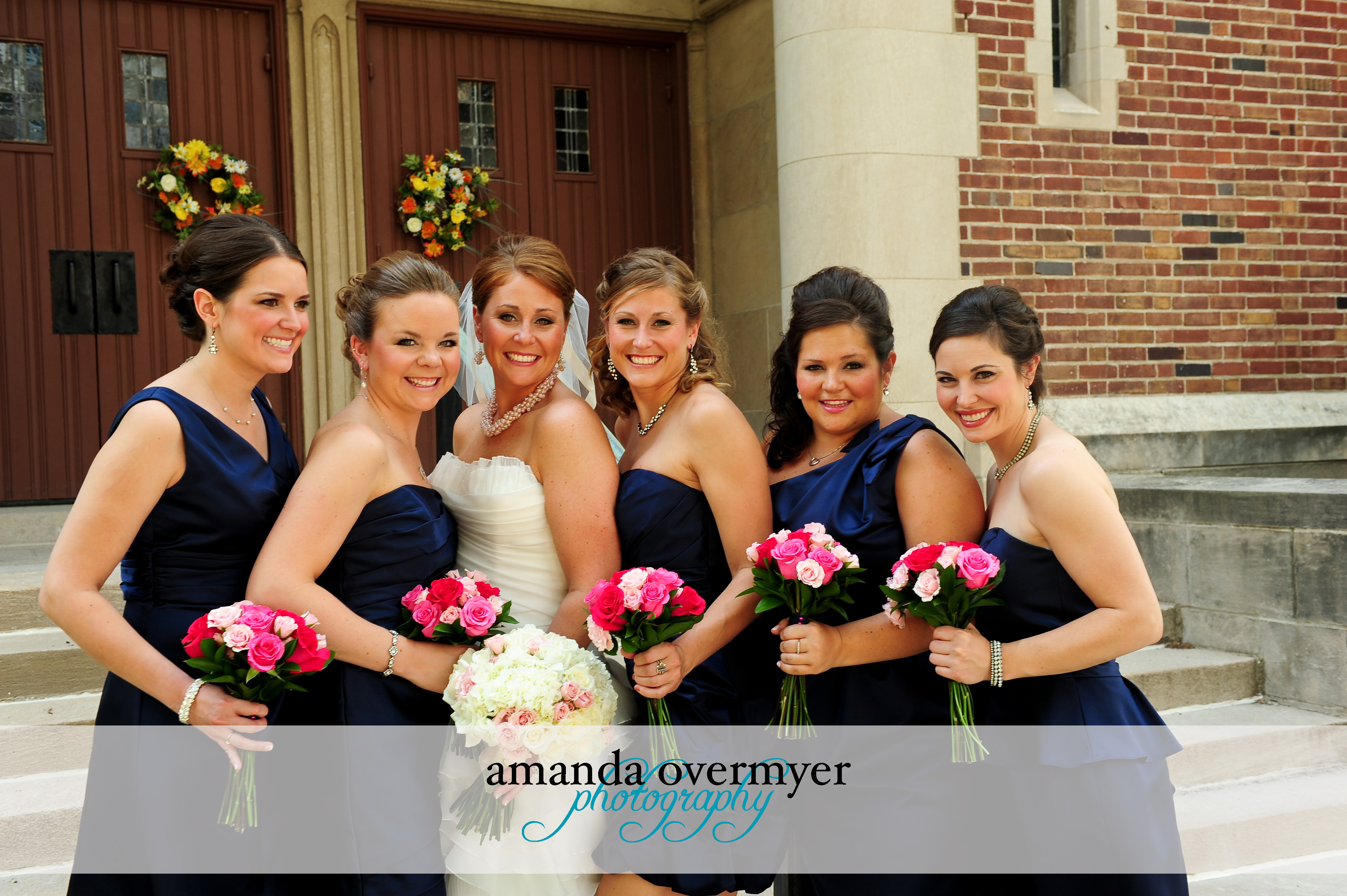 Pictures Of Wedding Party Flowers : Shades of pink bridal party flowers blossom basket