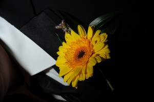 Yellow Germini Boutonniere