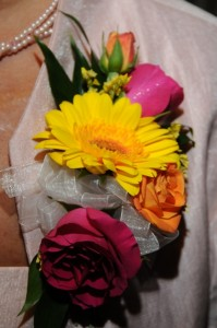 Corsage with Spray Roses and Germini