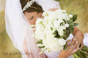 White wedding bouquet illinois