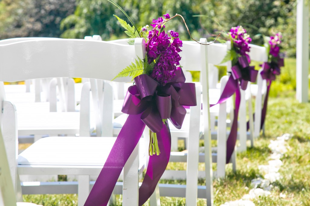 Purple Aisle Decorations