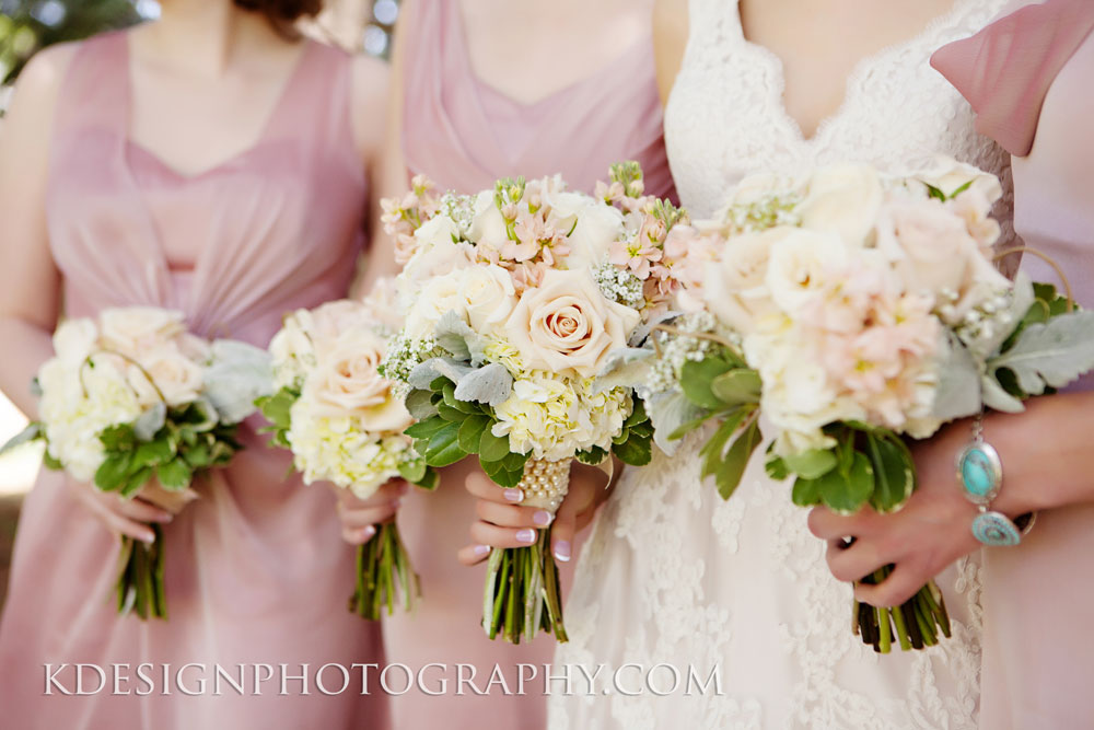 Romantic Blush Wedding Bouquets