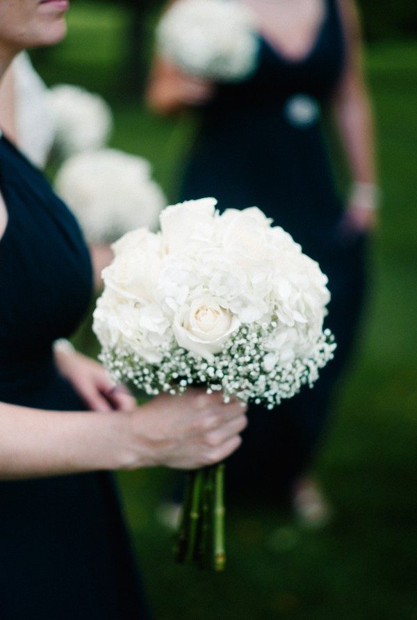 White Bridal Bouquets with Baby's Breath