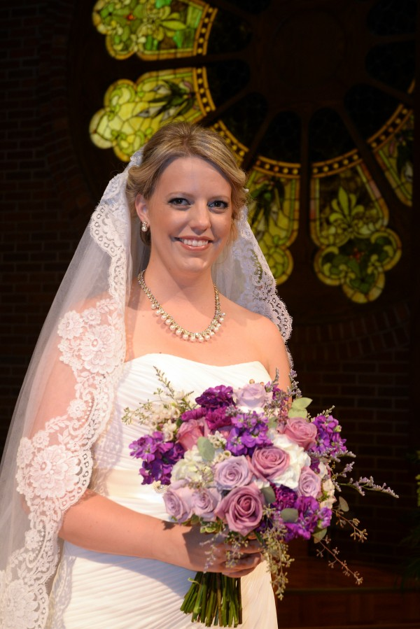 Shade of Purple Bridal Bouquet