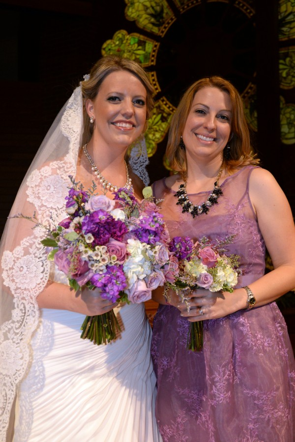 Shades of Purple Wedding Flowers