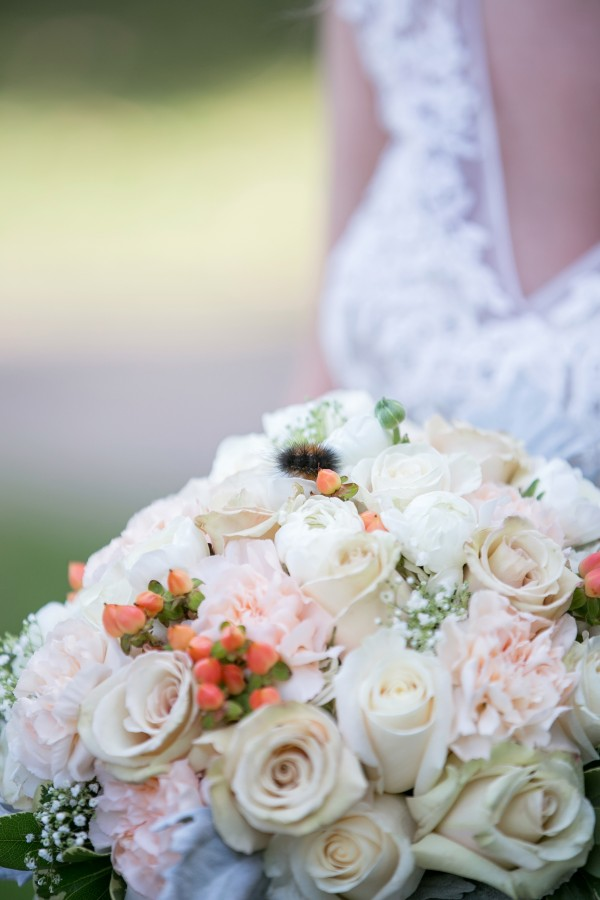 Peaches and Cream Wedding - Blossom Basket