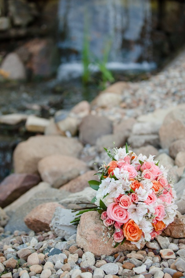 Pear Tree Estate Wedding Florist - Coral DreamBlossom Basket