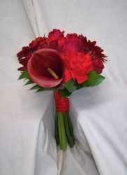 Red Wedding Flowers by Blossom Basket