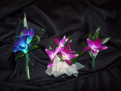 Boutonnieres and Corsages - Dendrobium Orchids