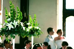 White Tower Centerpieces - Lilies & Orchids