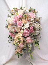 Pink Wedding Flowers by Blossom Basket