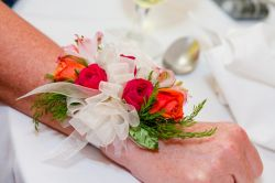 Wrist Corsage In Hot Sunset Colors