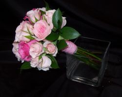 Shades of Pink - Roses and Spray Roses Bouquet