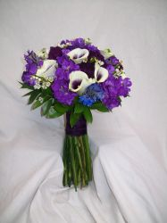 A touch of delphinium for the bride's something blue