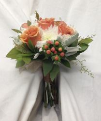Warm Colored Bridal Bouquet