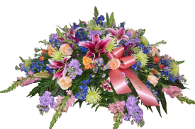 Colorful Garden Casket Spray