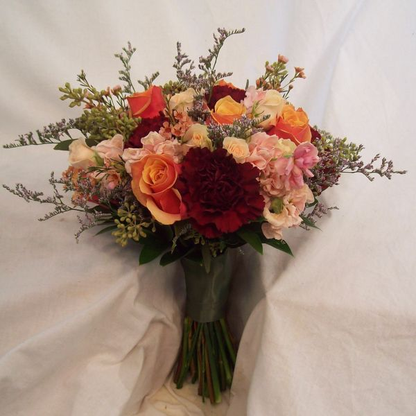 flowers for wedding anniversary real wedding flowers in pink orange and yellow 4268