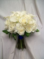 White Wedding Flowers by Blossom Basket
