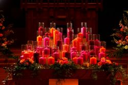 Candle Covered Altar