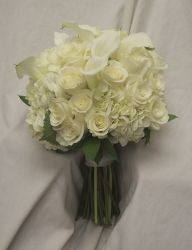 White Bridal Bouquet by Blossom Basket