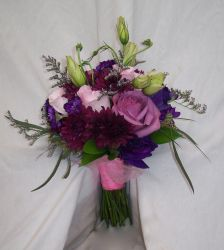 Cool Colored Bridal Bouquet