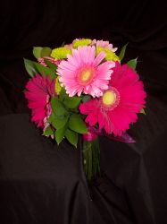Pink Gerbera Daisy Wedding Bouquets
